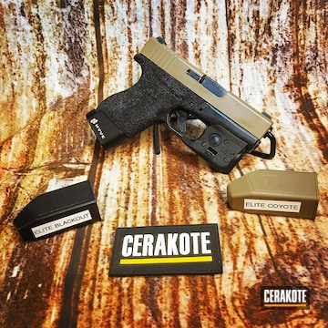 Cerakoted Glock 43 Cerakoted In E-170 And E-100