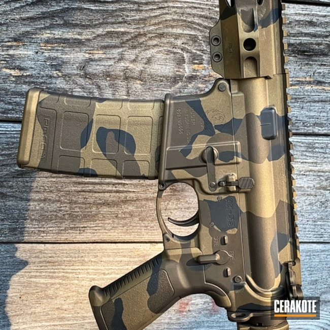 AR-15 with a Cerakote MultiCam Finish