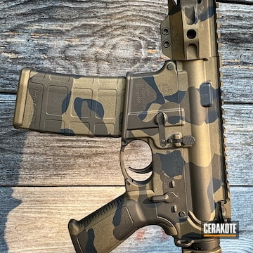 Cerakoted Ar-15 With A Cerakote Multicam Finish