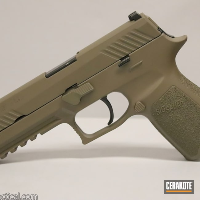 Cerakoted: SHOT,9mm,Sig Sauer P320,Gen II Flat Dark Earth HIR-265,Sig Sauer,Sig,Gun Coatings