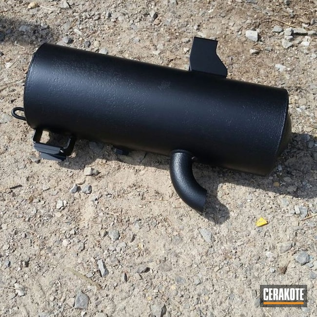 ATV Exhaust with a Black Cerakote Finish
