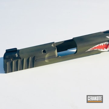 Cerakoted Cerakote Fighter Plane Shark Mouth Finish