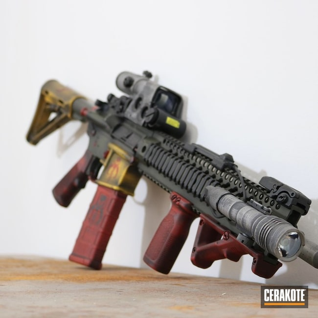 Star Wars Boba Fett Themed AR-15 Rifle