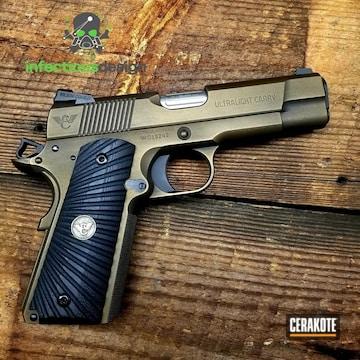 Cerakoted Cmmg 1911 Handgun With A H-146 And H-148 Cerakote Finish