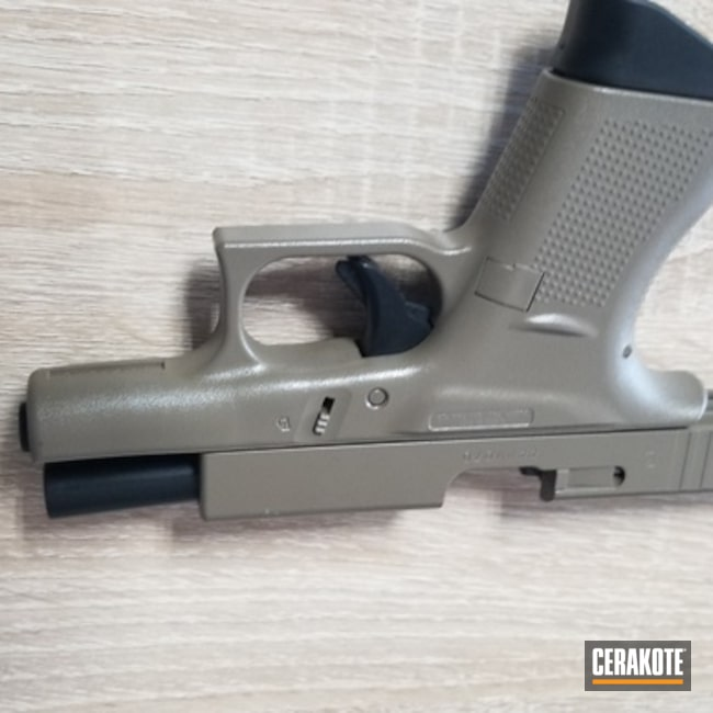 Cerakoted: S.H.O.T,Cerakote Elite Series,Glock 42,BLACKOUT E-100,FDE E-200,Pistol,Glock,Elite,Gun Coatings