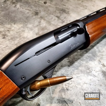 Cerakoted Refinished Remington 11-87 With Cerakote Midnight Blue