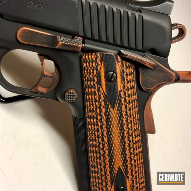 Kimber 1911 with Cerakote H-146 and H-310