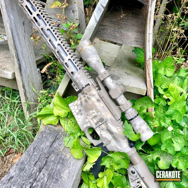 Cerakote Kryptek Finish on this DPMS Panther Arms Rifle