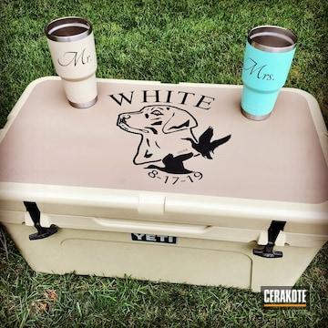 Cerakoted Mr. And Mrs. Yeti Tumbler Cups