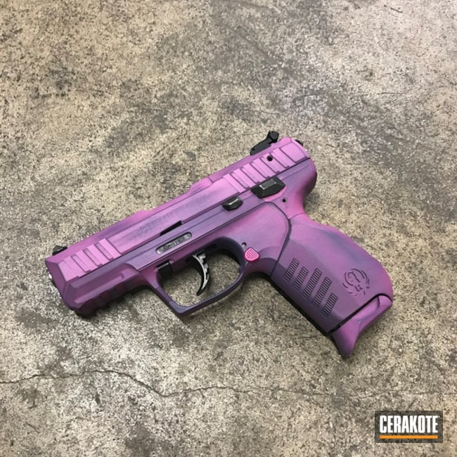 Battleworn Purple Ruger Handgun