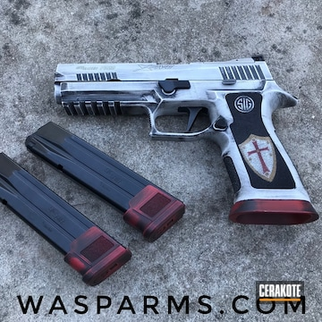 Cerakoted Knight's Templar Themed Sig Sauer P320