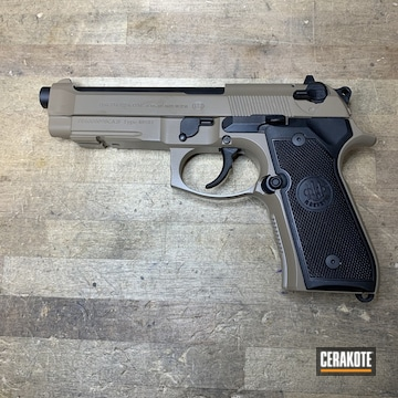 Cerakoted Beretta 92fs In Cerakote M17 Coyote