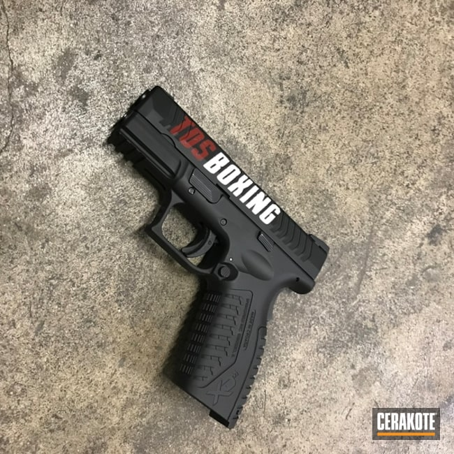 "Thumbnail image for project ""Springfield Handgun with a Boxing Themed Cerakote Finish"""