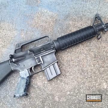Cerakoted M4 Carbine Cerakoted In A Battleworn H-146 And H-151 Finish