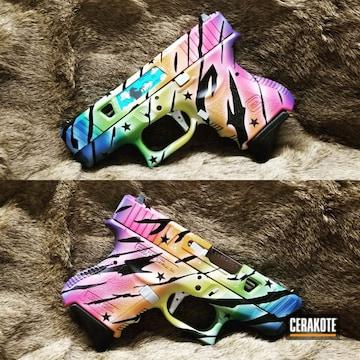 Cerakoted Glock 27 Handgun In A Custom Cerakote Finish