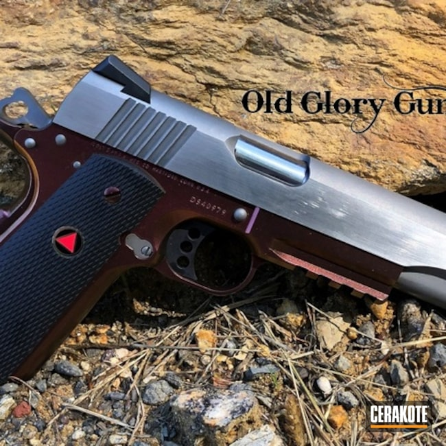 Custom Colt 1911 with Cerakote H-109 and Gun Candy
