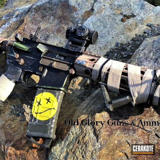 Custom Cerakoted Tactical Rifle