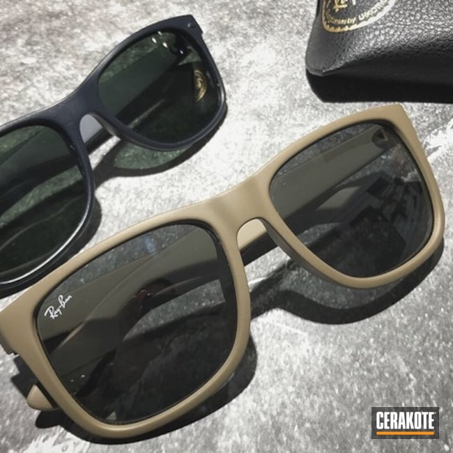 Ray Ban Sunglass Frames Cerakoted in H-267 and H-238