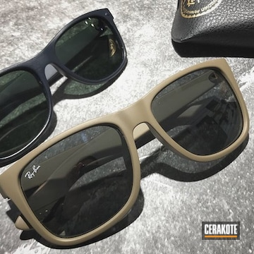 Cerakoted Ray Ban Sunglass Frames Cerakoted In H-267 And H-238