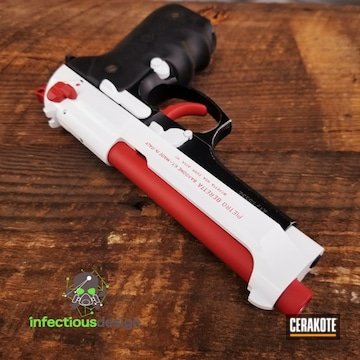 Cerakoted Beretta Handgun Finished With H-136 And H-216
