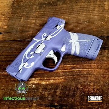 Cerakoted Smith & Wesson Handgun Cerakoted With Satin Aluminum And Crushed Orchid