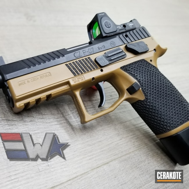 "Thumbnail image for project ""Cerakote Two Toned CZ P-07 Handgun"""