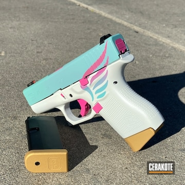 Cerakoted Pegasus Themed Glock 43 Handgun Finish