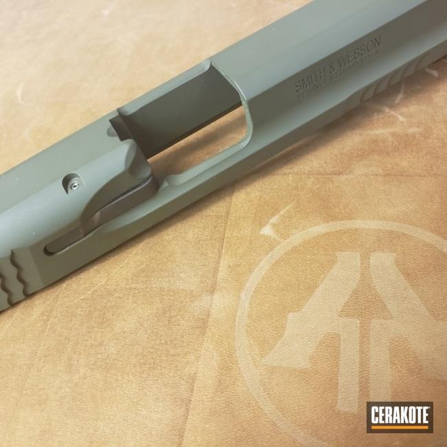 Cerakoted: SHOT,9mm,M&P9,Mil Spec O.D. Green H-240,Smith & Wesson,Pistol,Gun Coatings,Slide