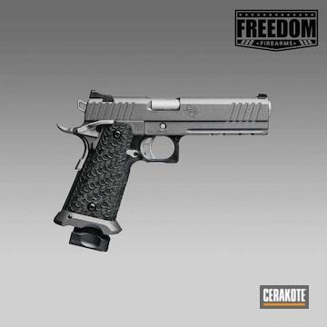 Cerakoted Cerakoted Cobalt Sti Handgun Body With Cerakoted Titanium Controls