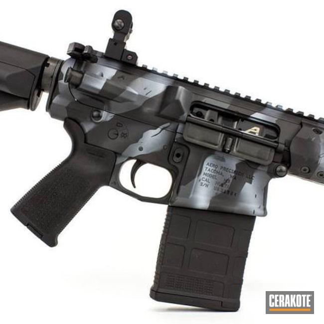 Cerakoted: SHOT,Aero Precision,Sniper Grey H-234,Stripe Camo,Armor Black H-190,BATTLESHIP GREY H-213,Tactical Rifle,Gun Coatings
