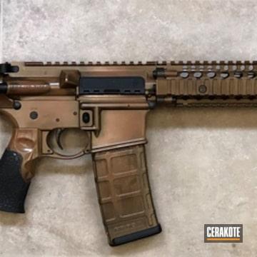 Cerakoted Custom Cerakote Bronze Finish On This Daniel Defence Rifle