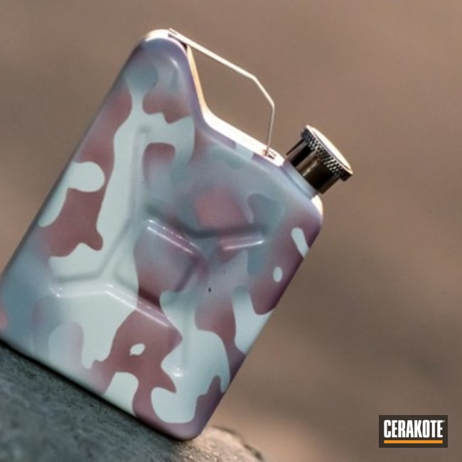 "Thumbnail image for project ""Pink MultiCam Jerry Can Flask"""