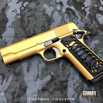 Cerakoted Two Toned Rock Island Armory 1911 Handgun