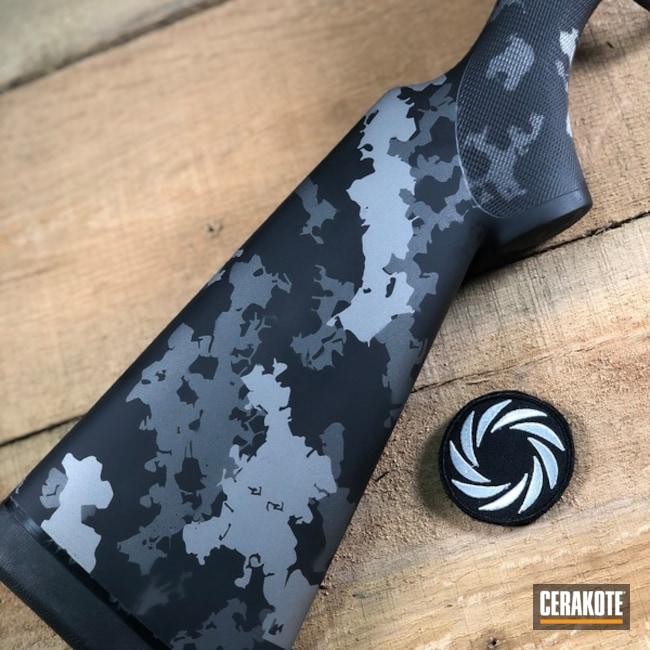 Cerakoted: SHOT,Bolt Action Rifle,MultiCam,Tungsten H-237,Titanium H-170,Armor Black H-190,Gun Coatings