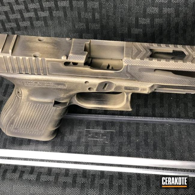 Cerakoted: SHOT,MAGPUL® FLAT DARK EARTH H-267,Graphite Black H-146,Distressed,Pistol,Glock,Gun Coatings