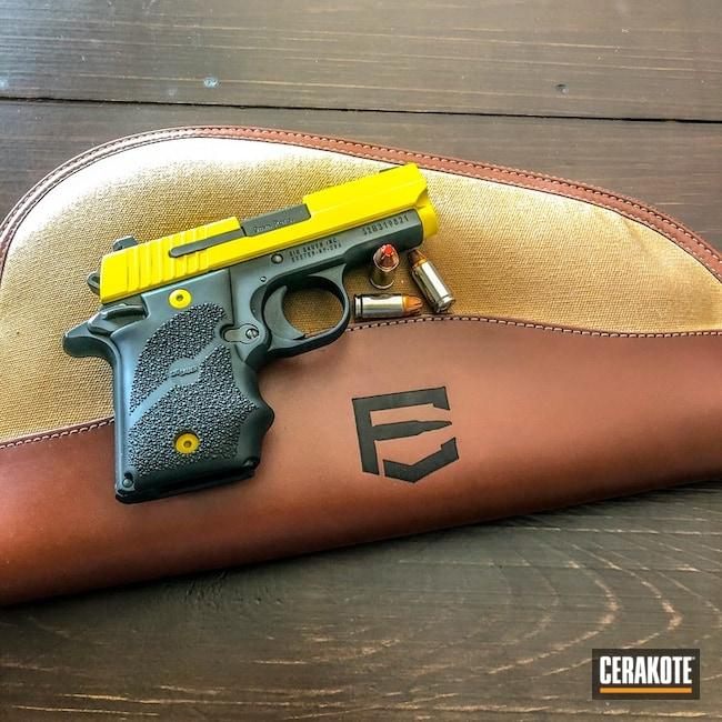 Cerakoted: SHOT,Corvette Yellow H-144,Two Tone,Pistol,Sig Sauer,Gun Coatings