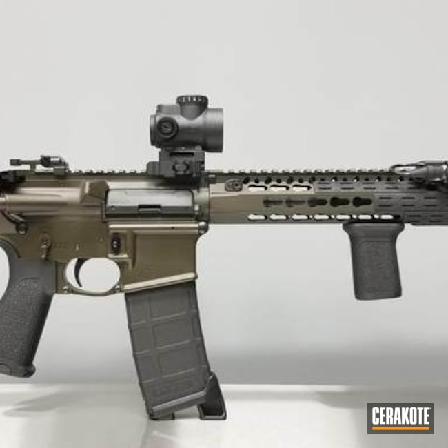 Cerakoted: SHOT,Aero Precision,Tactical Rifle,O.D. Green H-236,Gun Coatings