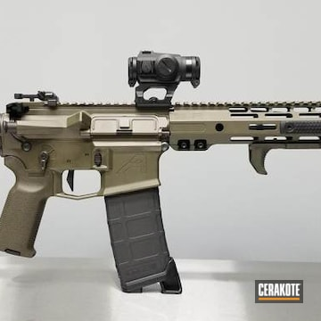 Cerakoted Aero Precision Rifle With Cerakote H-296 Cobalt Kinetics Green