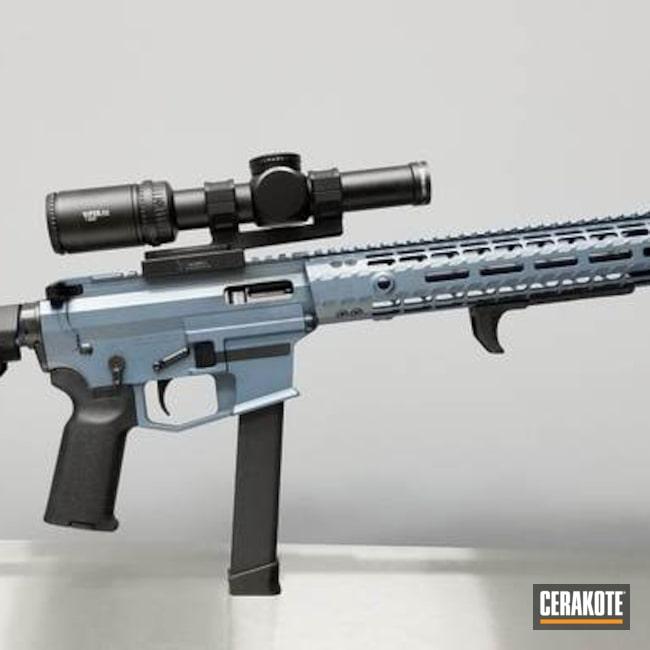 Cerakoted: SHOT,Aero Precision,AR Pistol,Gun Coatings,Blue Titanium H-185