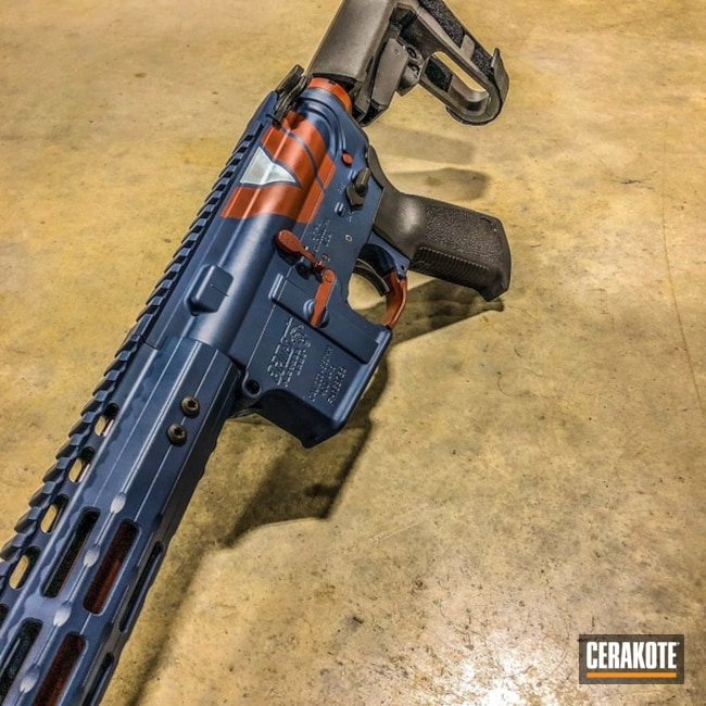 SPMS Rifle Cerakoted with H-127 Kel-Tec Navy Blue