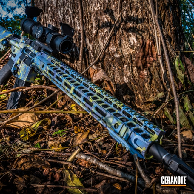 Cerakoted: S.H.O.T,MOJITO H-313,Tactical Rifle,Multiple Colors,CRUSHED ORCHID H-314,Gun Coatings,Colors,POLAR BLUE H-326,AR-15