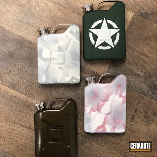 "Thumbnail image for project ""Cerakoted Jeep Jerry Can Flasks"""