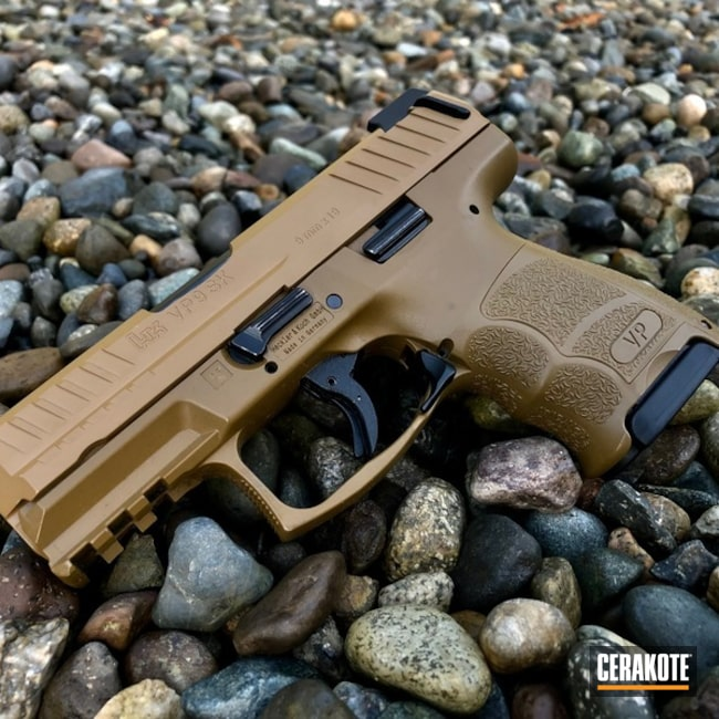 Cerakoted Noveske Tiger Eye Brown Slide Work Vp9-sk