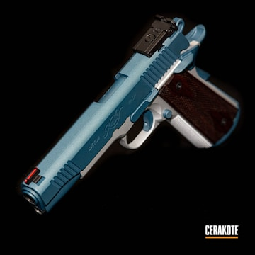 Cerakoted Kimber 1911 With A Two Toned Cerakote H-151 And H-185 Finish