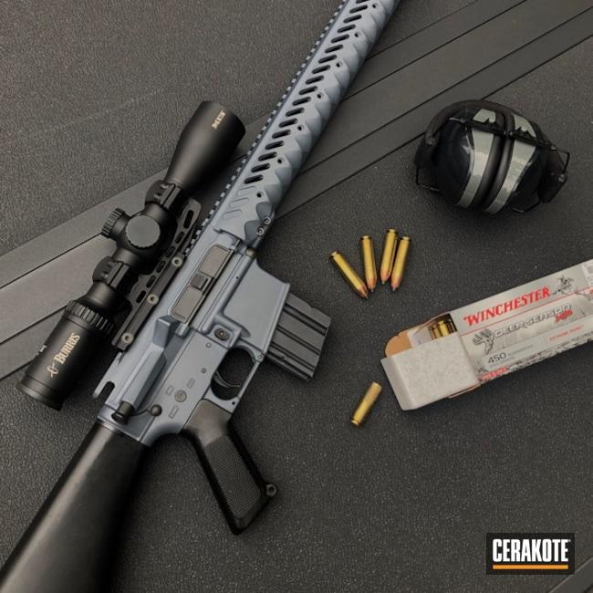 Cerakoted: S.H.O.T,450 Bushmaster,Tactical Rifle,Gun Coatings,Bushmaster,Blue Titanium H-185,AR-15