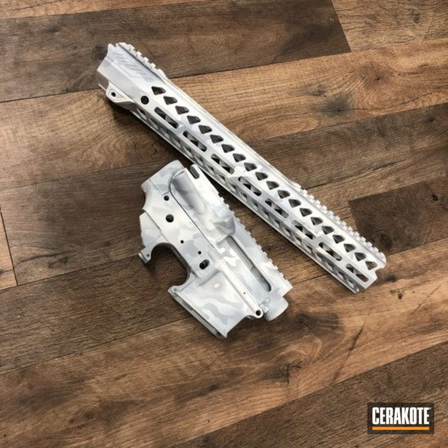Anderson Mfg. Upper / Lower / Handguard with a Cerakote Alpine MultiCam Finish
