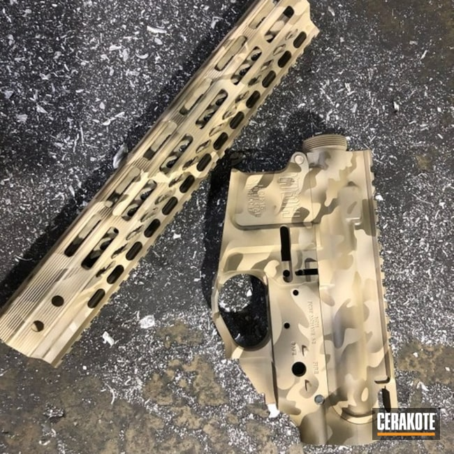 "Thumbnail image for project ""Upper / Lower / Handguard Cerakoted in a Desert MultiCam Finish"""