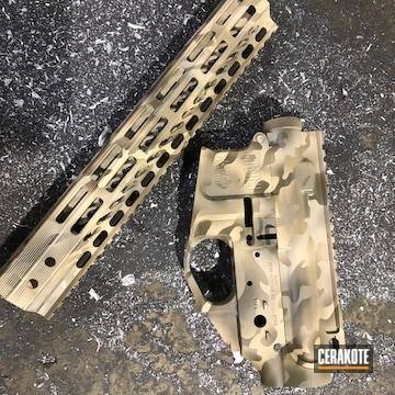 Cerakoted Upper / Lower / Handguard Cerakoted In A Desert Multicam Finish
