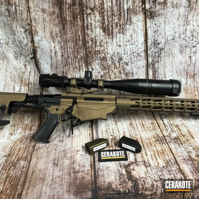 Ruger PRecision 6.5 Bolt Action Rifle Cerakoted with Burnt Bronze and Graphite Black Accents