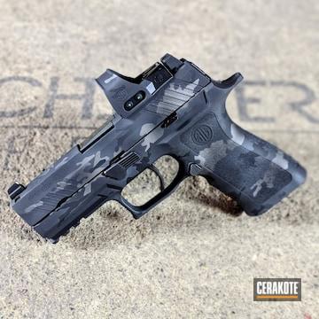 Cerakoted Sig Sauer P320 Handgun With A Custom Urban Multicam Finish